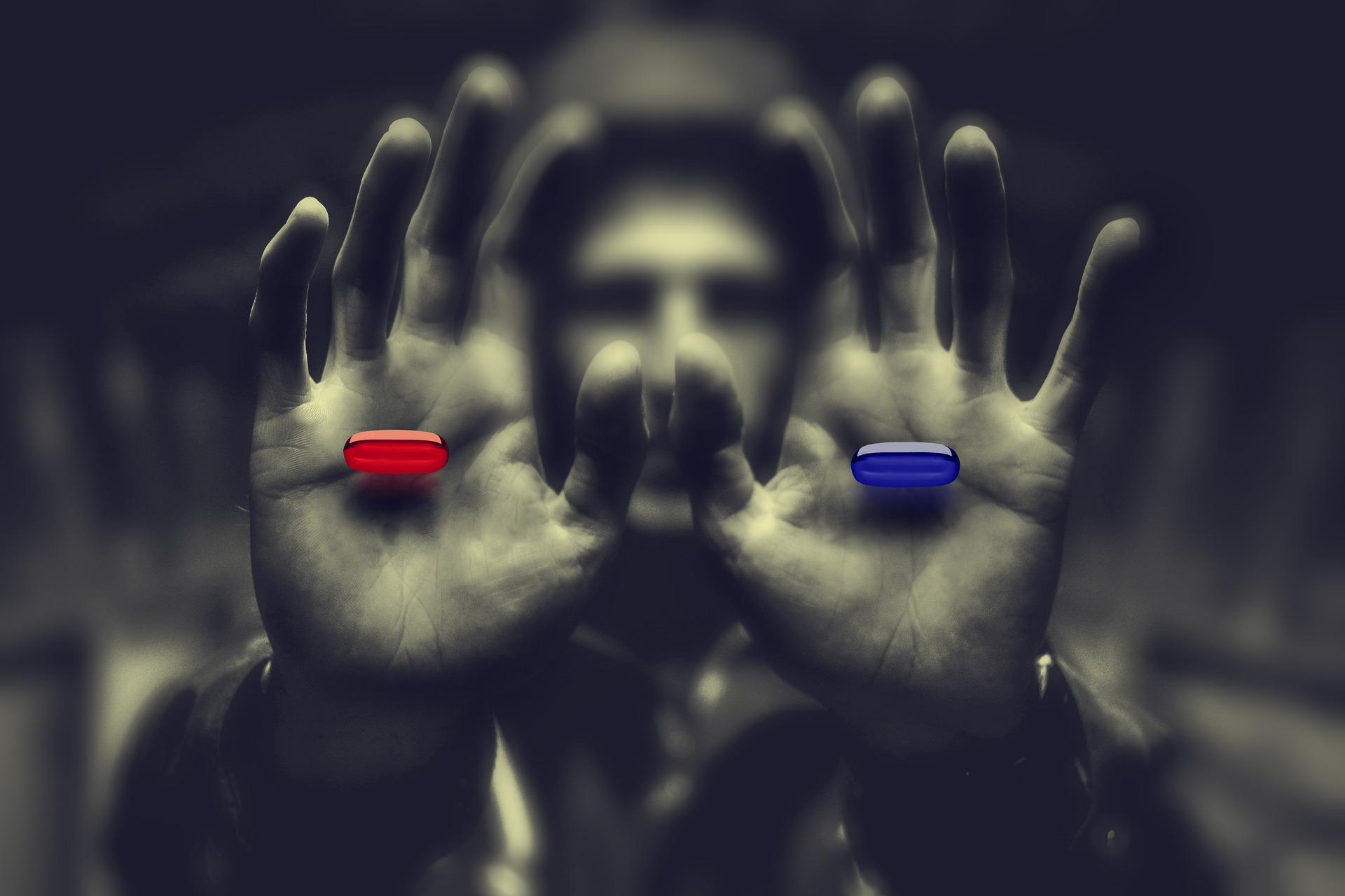 Pastilla roja o pastilla azul, despertar a la verdad o continuar en la ignorancia