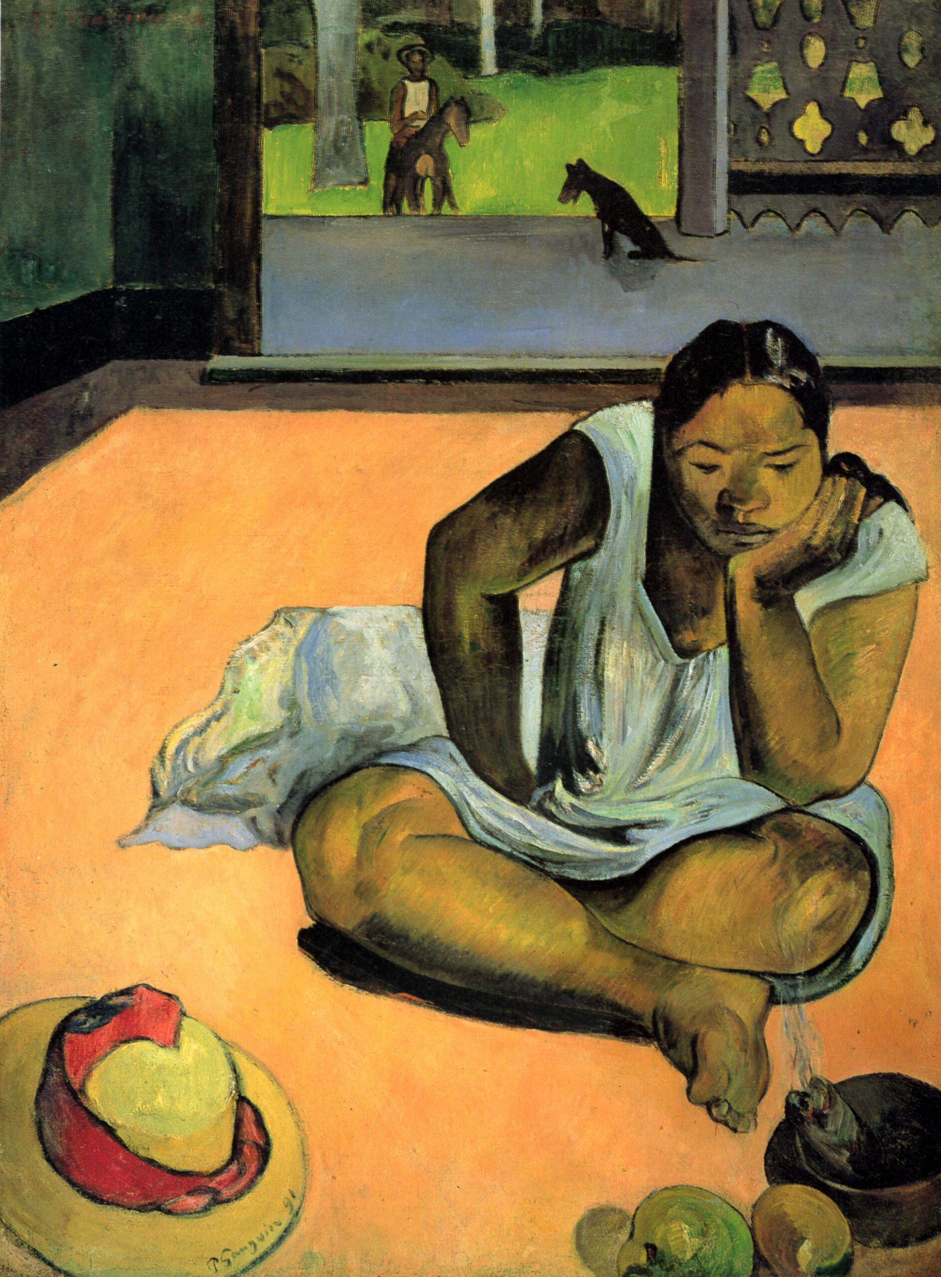 La Melancolía, de Paul Gauguin